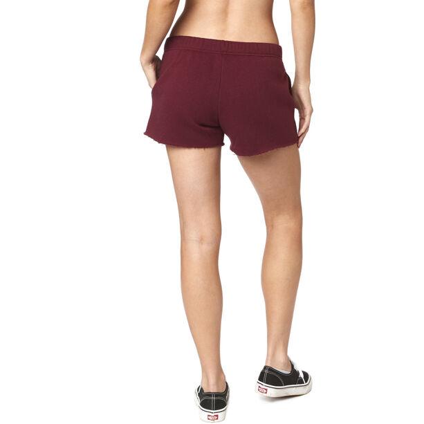 Fox Onlookr Fleece Shorts Damen charcoal/graphite/red