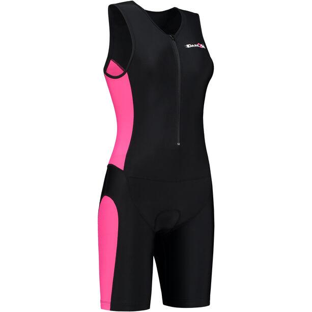 Dare2Tri Frontzip Trisuit Damen black-pink