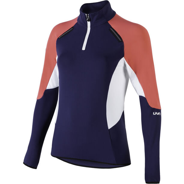UYN Move Zip Up Jacket Damen deep blue/geranium/off white
