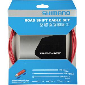 Shimano Polymer Road Schaltkabel-Set rot