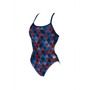 arena Linear Triangle Challenge Back One Piece Badeanzug Damen red multi/navy red multi/navy