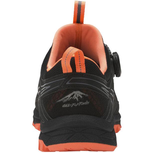 asics Gel-Fujirado Shoes Men black/carbon/hot orange black/carbon/hot orange