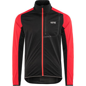 GORE WEAR C3 Gore Windstopper Jacket Herren black/red black/red