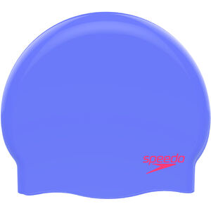 speedo Plain Moulded Silicone Cap Kinder purple/red purple/red