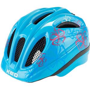 KED Meggy Trend Helmet Kinder lightblue flower lightblue flower
