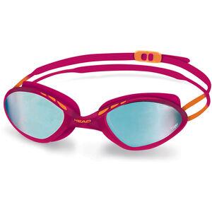 Head Tiger Race Mid Mirrored Goggles raspberry-blue raspberry-blue