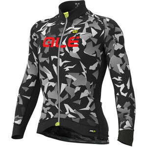 Alé Cycling Graphics PRR Glass Longsleeve Jersey Herren black-grey black-grey