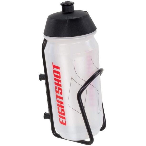 EIGHTSHOT Trinkflasche mit Halterung black/clear