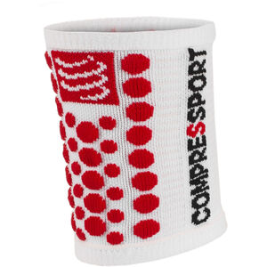 Compressport 3D Dots Sweatbands white-red white-red