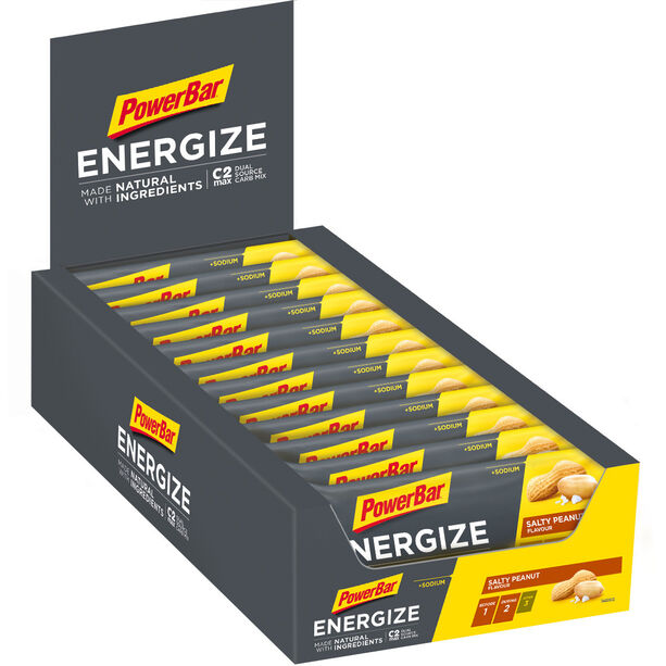 PowerBar Energize Made with Natural Ingredients Riegel Box 25x55g Salty Peanut