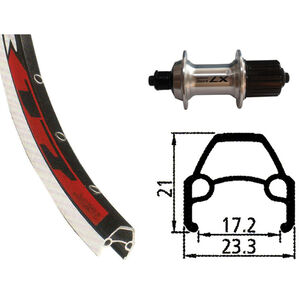 Rodi VR17 HR, 622-17, 36L, mit Deore LX silver bei fahrrad.de Online