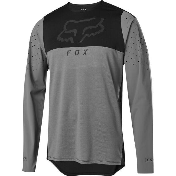 Fox Flexair Delta Langarm Trikot Herren pewter