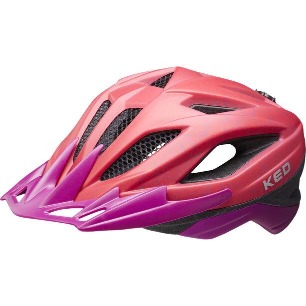 KED Street MIPS Helm Kinder red/violet matte
