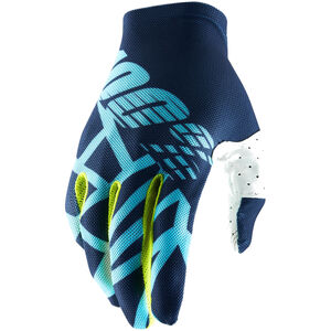 100% Celium 2 Gloves navy/ice blue/fluo lime navy/ice blue/fluo lime