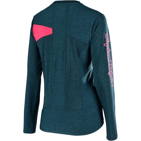 Troy Lee Designs Skyline LS Jersey Damen heather corsair/coral