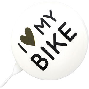 URBAN PROOF Ding Dong Bell 8cm i love my bike white i love my bike white
