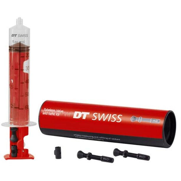 DT Swiss Tubeless Ventil und Nachfüllset 35mm
