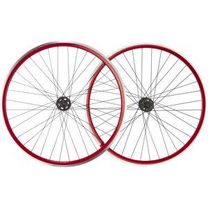 """Point SingleSpeed Laufradsatz 28"""" rot-schwarz rot-schwarz"""