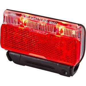 Busch + Müller Toplight Line Batterie-Rücklicht senso 50mm schwarz/rot schwarz/rot