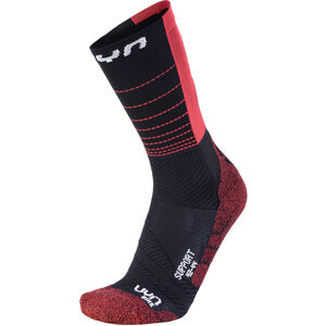 UYN Cycling Support Socks Herren black/hibiscus black/hibiscus
