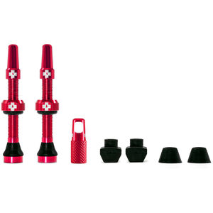 Muc-Off MTB & Road Tubeless Valve Kit 60mm red red