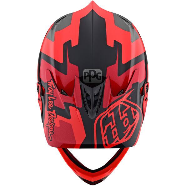Troy Lee Designs D3 Fiberlite Helmet speedcode/red