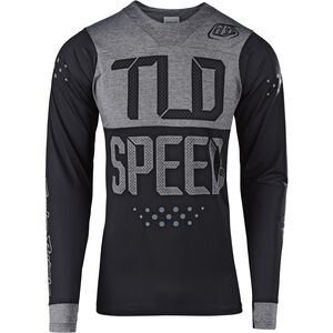 Troy Lee Designs Skyline LS Jersey Herren speedshop/black/heather gray speedshop/black/heather gray