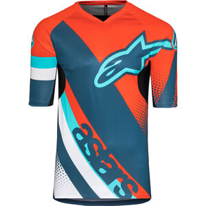 Alpinestars Racer Shortsleeve Jersey Men energy orange/poseidon blue