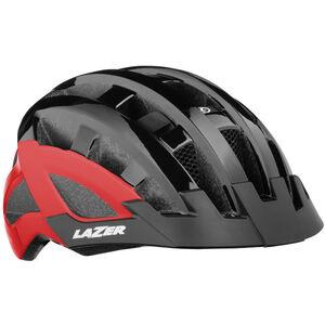 Lazer Compact Deluxe Helmet black-red black-red