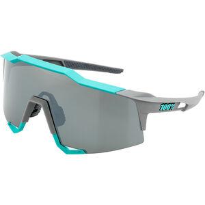 100% Speedcraft Mirror Glasses Tall soft tact celeste green/grey soft tact celeste green/grey