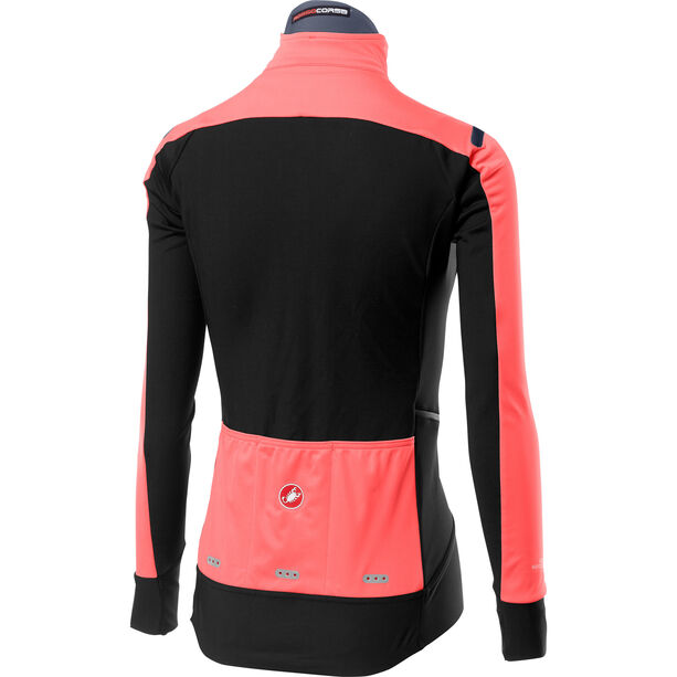 Castelli Alpha Rain Or Shine Leichte Jacke Damen brilliant pink/black