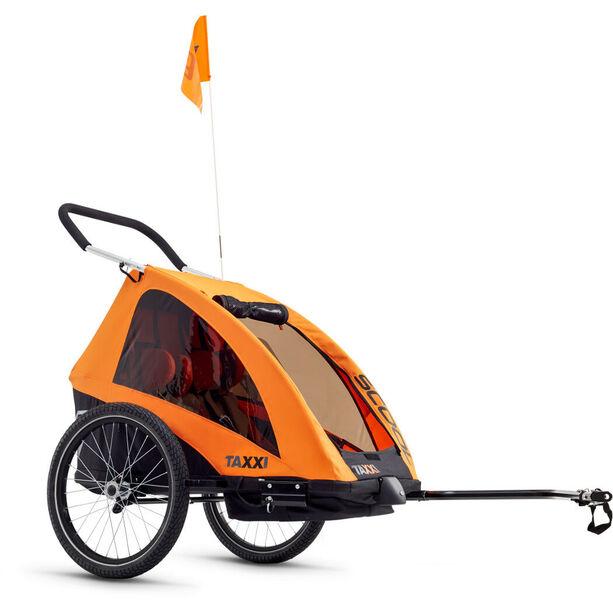 s'cool taXXi Pro Bike Trailer for Two orange