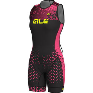 Alé Cycling Triathlon Rush Olympic Sleeveless Unitard Damen black flou pink black flou pink