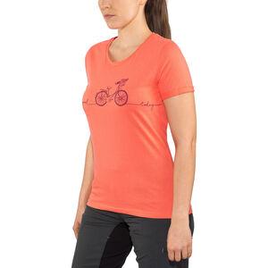 Triple2 Laag Bike T-Shirt Women Living Coral