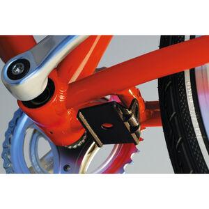 Hebie Adapterplatte  für Zweitmontage Seitenständer und Zweibeinständer rot/grau