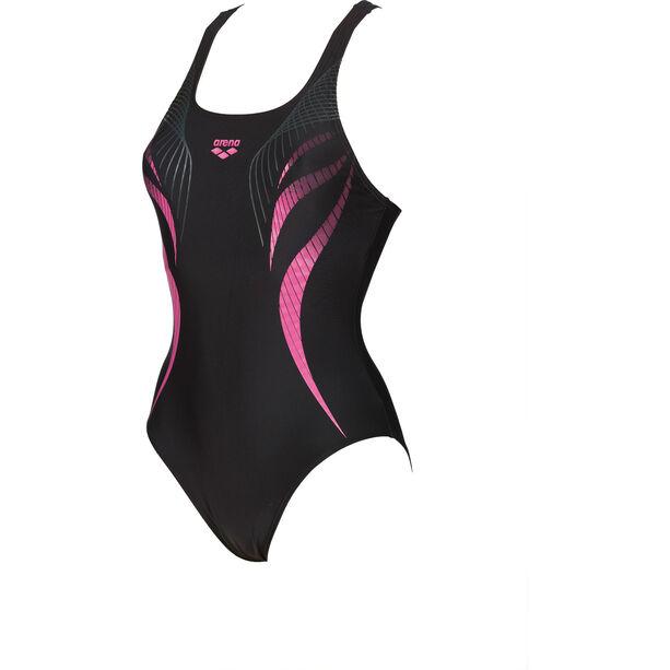arena Flow V Back LB One Piece Swimsuit Damen black-aphrodite