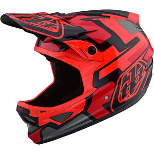 Troy Lee Designs D3 Fiberlite Speedcode Helmet red red