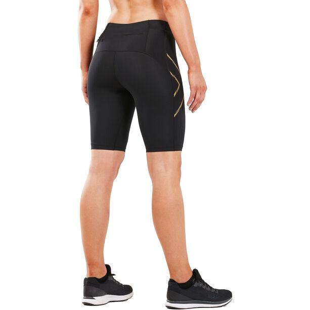 2XU MCS Run Shorts Damen black/gold reflective