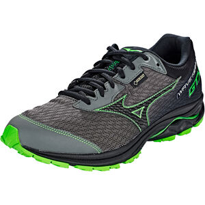 Mizuno Wave Rider GTX Running Shoes Men gunmetal/black/green slime bei fahrrad.de Online
