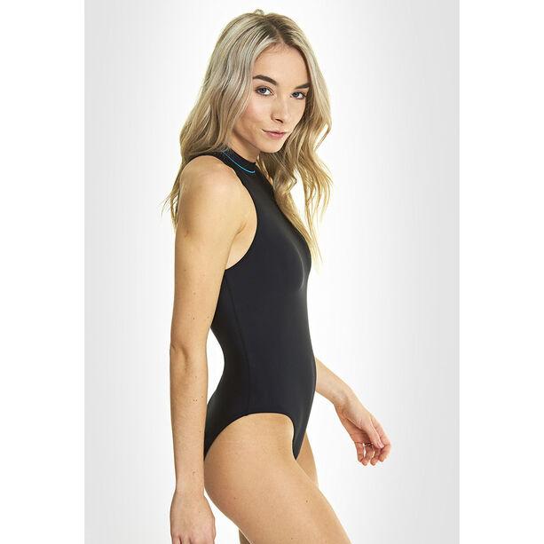 Zoggs Cable Zipped Hi Neck Swimsuit Damen