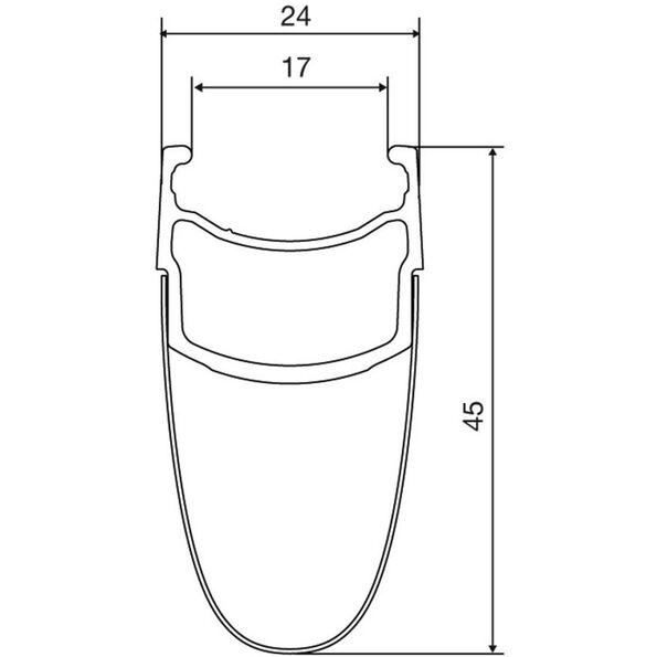 Mavic Cosmic Pro Carbon Exalith 17 Laufradsatz Shimano 25