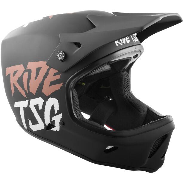 TSG Advance Graphic Design Helmet Herren ripped black-copper