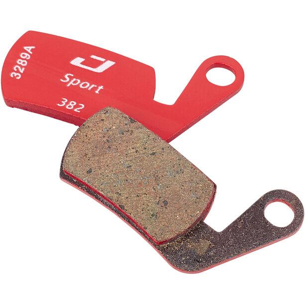 Jagwire Sport Semi-Metallic Bremsbeläge für Magura Marta 2002-2008/Marta SL 1 Paar rot