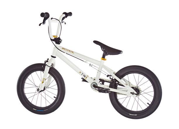 s'cool XtriX mini 16 Kinder white/gold