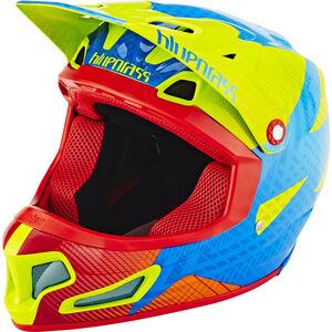 bluegrass Brave Fullface Helm green/blue/orange