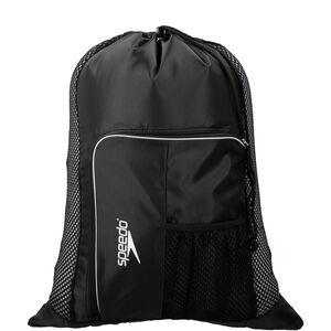 speedo Deluxe Ventilator Mesh Bag 35l black/white black/white