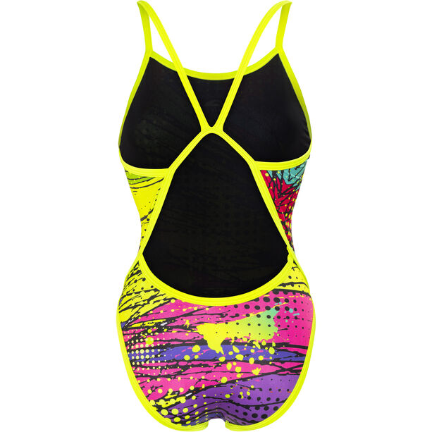 Turbo Kriptonite Revolution Thin Strap Swimsuit Damen yellow