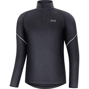 GORE WEAR M Mid Langarm Zip Shirt Herren black black