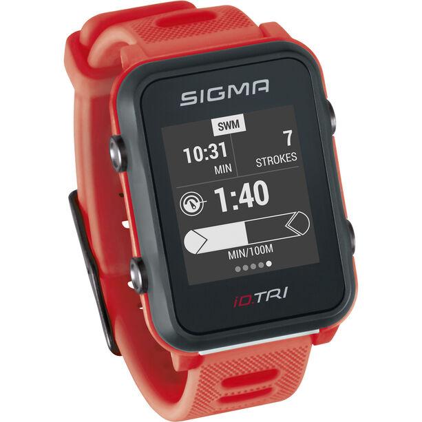 SIGMA SPORT iD.TRI Basic Multisport-Uhr neon red