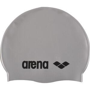 arena Classic Silicone Swimming Cap Kinder silver-black silver-black